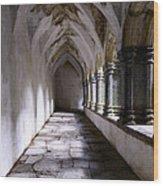 Muckross Abby Cloister Killarney  Ireland Wood Print by Dick Wood