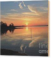 Mud Cove Sunset Wood Print