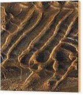 Mud Flats Five Wood Print