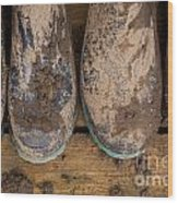 Muddy Boots On Deck Wood Print