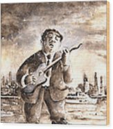 Muddy Waters In Chicago Wood Print