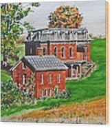 Mudhouse Mansion Wood Print