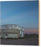 Muffler Shop Wood Print