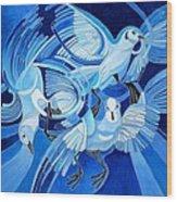 Muge's Pigeons Wood Print