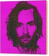 Mugshot Charles Manson M88 Wood Print