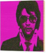Mugshot Elvis Presley M80 Wood Print