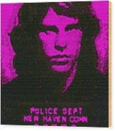 Mugshot Jim Morrison M88 Wood Print by Wingsdomain Art and Photography