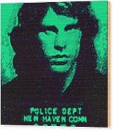 Mugshot Jim Morrison P128 Wood Print