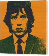 Mugshot Mick Jagger P0 Wood Print