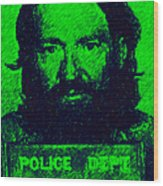 Mugshot Willie Nelson P88 Wood Print by Wingsdomain Art and Photography