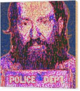 Mugshot Willie Nelson Painterly 20130328 Wood Print by Wingsdomain Art and Photography