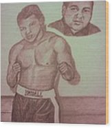 Muhammad Ali Wood Print by Christy Saunders Church