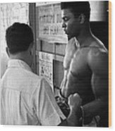 Muhammad Ali Coming Out Of Dressing Room Wood Print