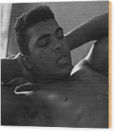 Muhammad Ali Sit Ups Wood Print by Retro Images Archive