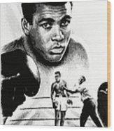 Muhammad Ali The Greatest Wood Print