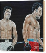 Muhammad Ali Vs George Foreman Wood Print by Jim Fitzpatrick