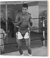 Muhammad Ali Warming Up Wood Print by Retro Images Archive