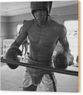 Muhammad Ali Works Out  Wood Print by Retro Images Archive