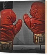 Muhammad Ali's Boxing Gloves Wood Print by Bill Cannon