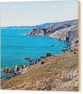 Muir Beach Lookout North View Wood Print