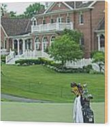 D12w-289 Golf Bag At Muirfield Village Wood Print