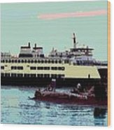 Mukilteo Clinton Ferry Panel 3 Of 3 Wood Print