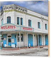 Mulates New Orleans Wood Print