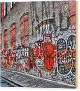 Mulberry Street Graffiti Wood Print