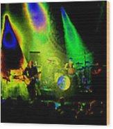 Mule #7 Enhanced Image In Cosmicolor Wood Print
