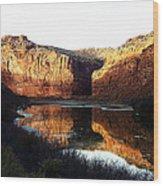 Mule Shoe Colorado River Wood Print