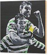 Mulgrew And Watt - Glasgow Celtic Fc Wood Print