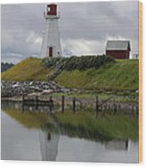 Mulholland Point Lighthouse - New Brunswick Wood Print
