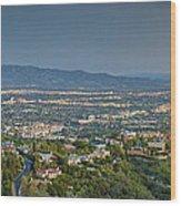 Mullholland Estates Luxury Residences San Fernando Valley Ca Wood Print