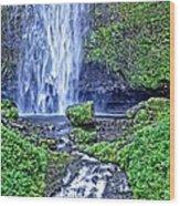 Mulnomah Falls Wood Print