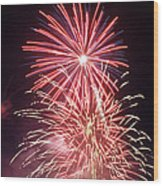 4th Of July Fireworks 1 Wood Print by Howard Tenke