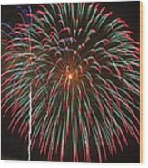 4th Of July Fireworks 16 Wood Print