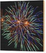 4th Of July Fireworks 22 Wood Print
