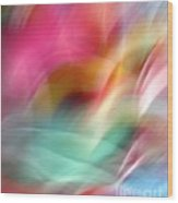 Multi-color Floral Wood Print