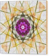 Multi Flower Abstract Wood Print