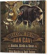 Multi Specie Man Cave Wood Print by JQ Licensing
