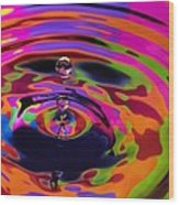 Multicolor Water Droplets 2 Wood Print