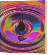 Multicolor Water Droplets 3 Wood Print