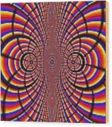 Multicolored Abstract Wood Print