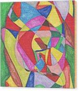 Multicolored Maze Wood Print by Ellen Howell