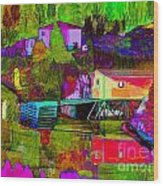 Multicolored Reflections Wood Print