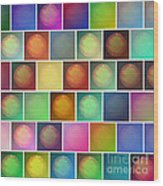 Multicolored Suns Wood Print
