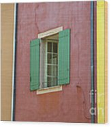 Multicolored Walls, France Wood Print