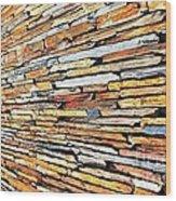 Multicoloured Slate Wall Wood Print