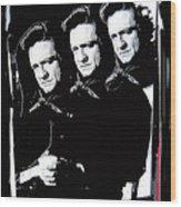 Multiple Johnny Cash Sitting Old Tucson Arizona 1971-2008 Wood Print
