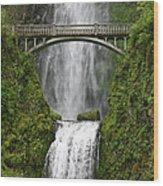Multnomah Falls Bridge Wood Print